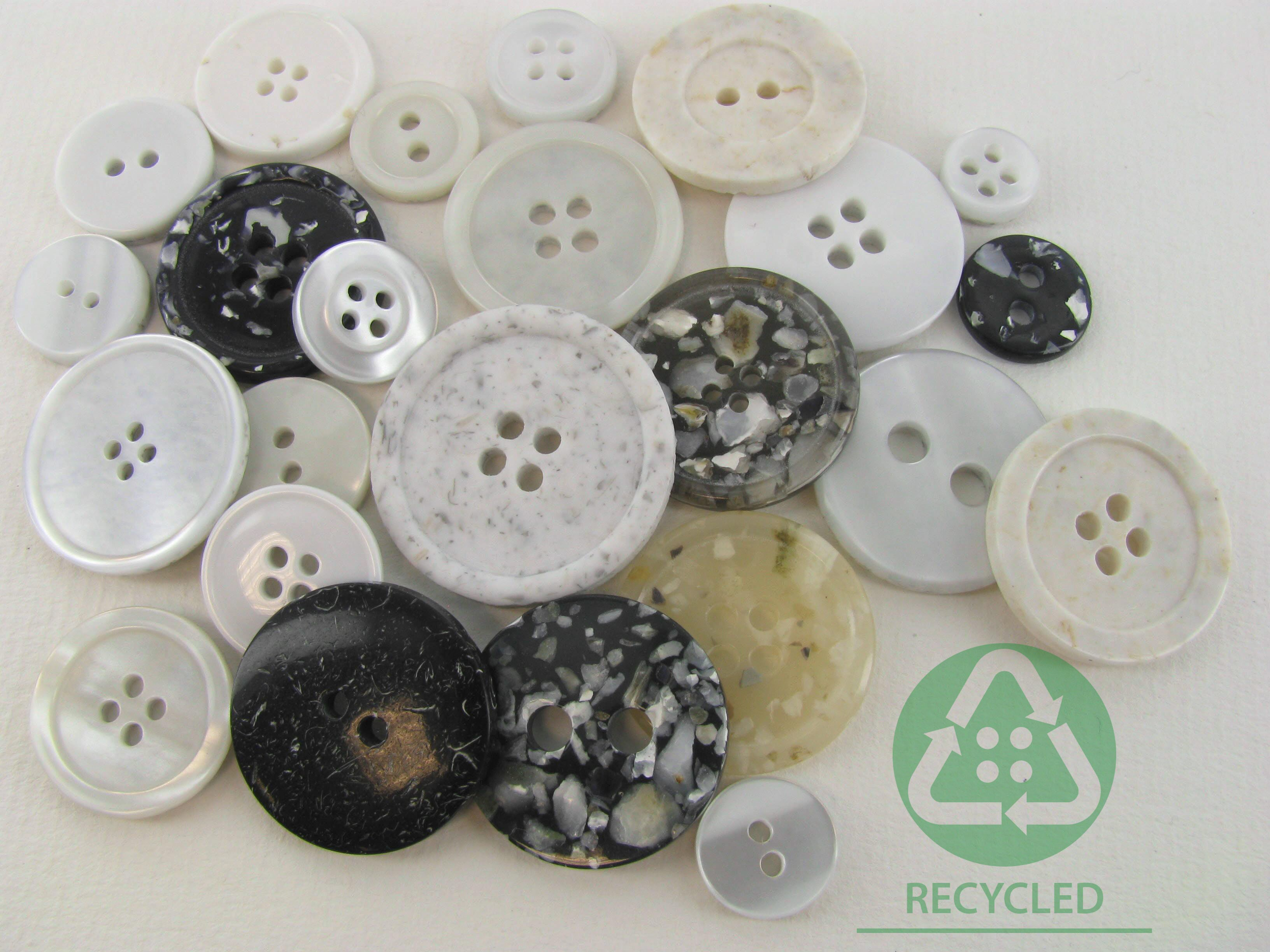 Our buttons in recycled material